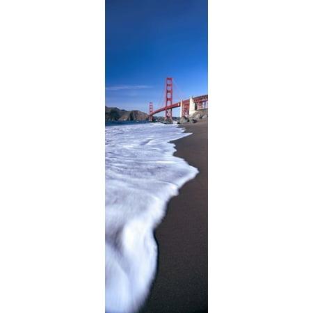 Suspension Bridge Across A Bay Golden Gate Bridge San Francisco Bay San Francisco California Usa Poster Print