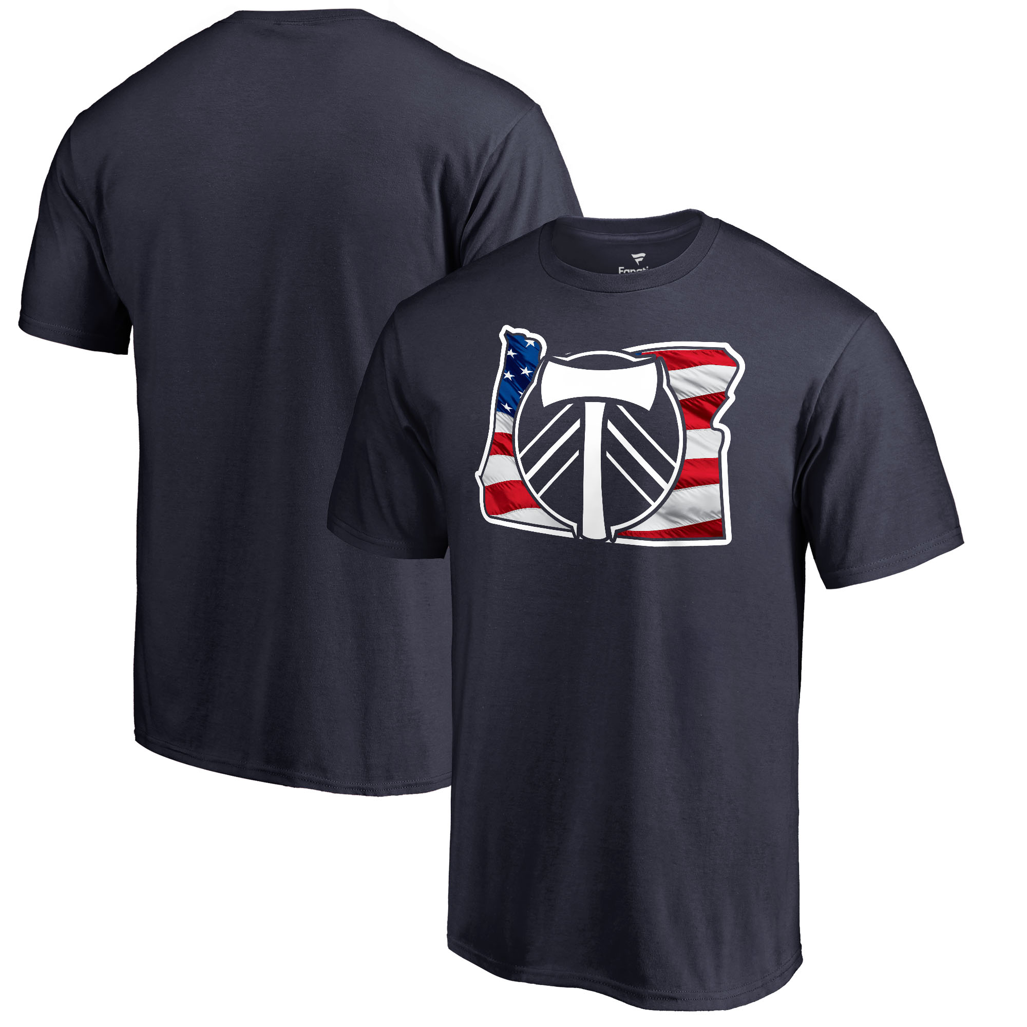 Portland Timbers Fanatics Branded Banner State T-Shirt- Navy