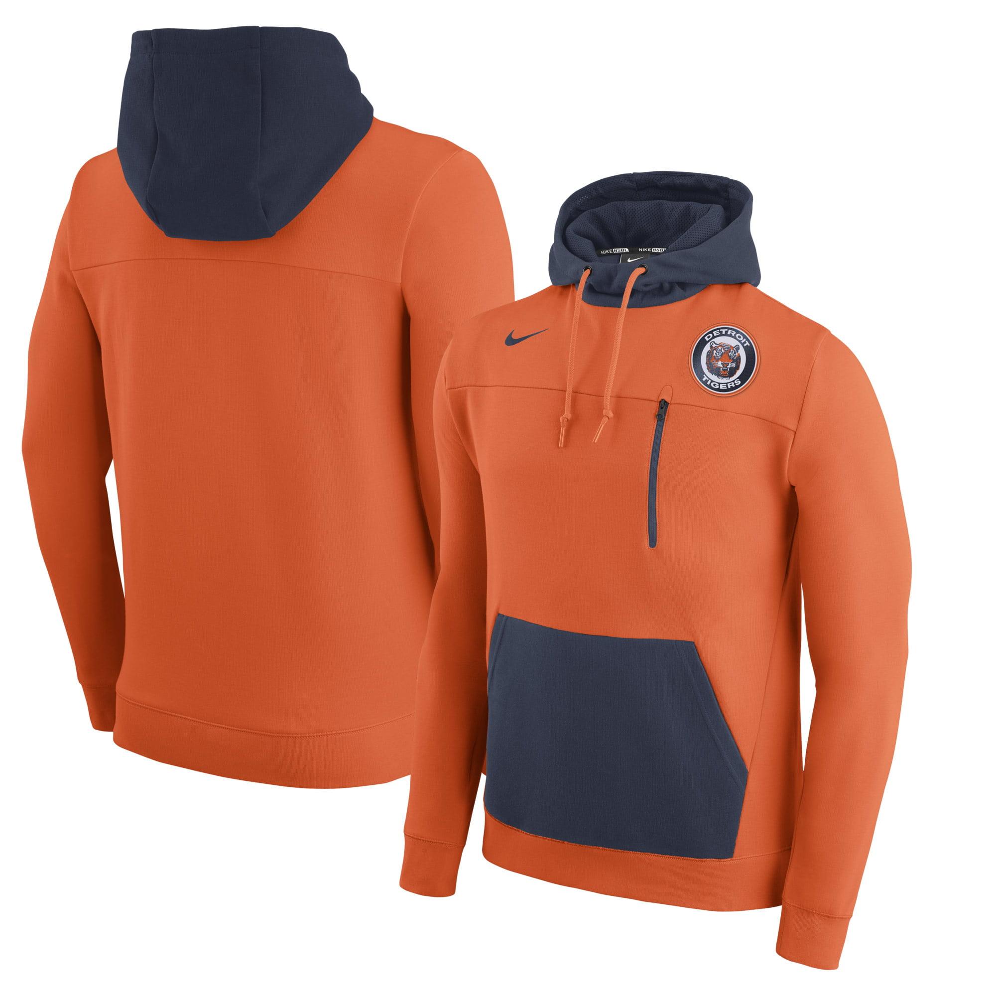 Men's Nike Orange Detroit Tigers AV 2 Fleece Pullover Hoodie