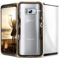 Zizo SHOCK 2.0 Series compatible with Samsung Galaxy S8 Plus Case Military Grade Drop Tested with Tempered Glass Screen Protector GOLD BROWN
