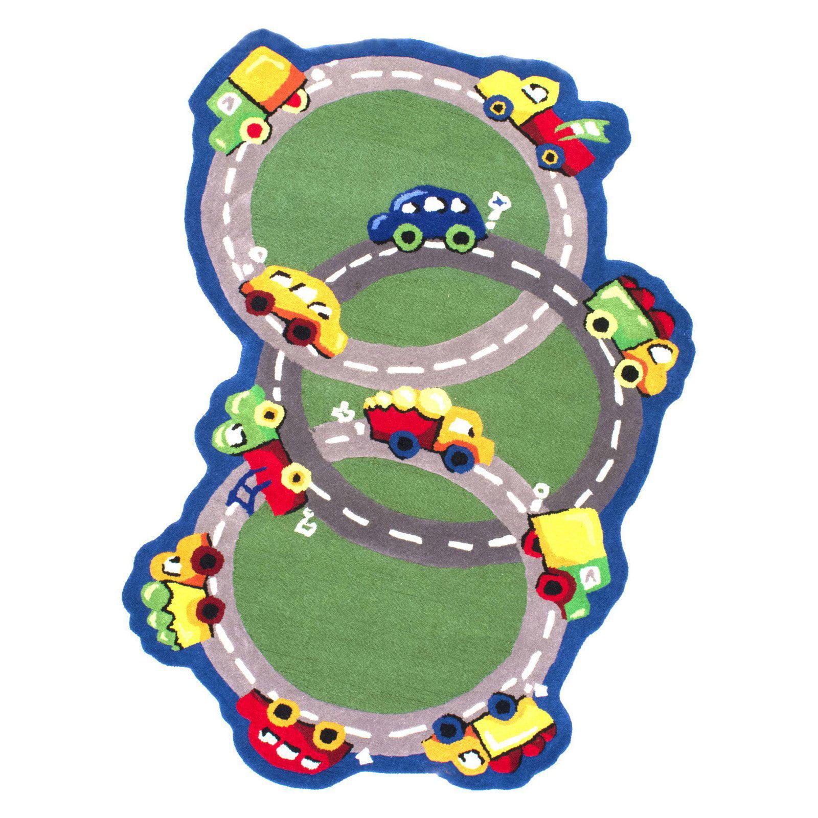 nuLOOM Kinder Traffic Time Green Area Rug