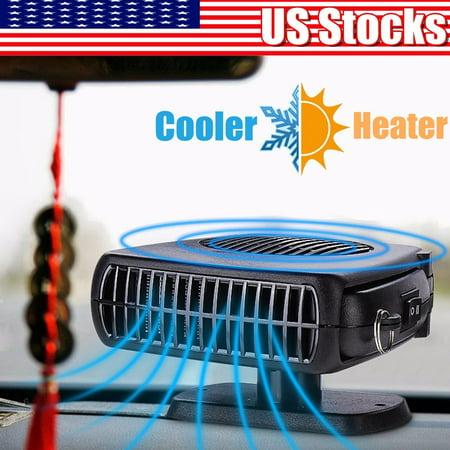 10v 50v Heater - New Portable 12V 2in1 Car Vehicle Ceramic Heater Cooler Fan Defroster Demister