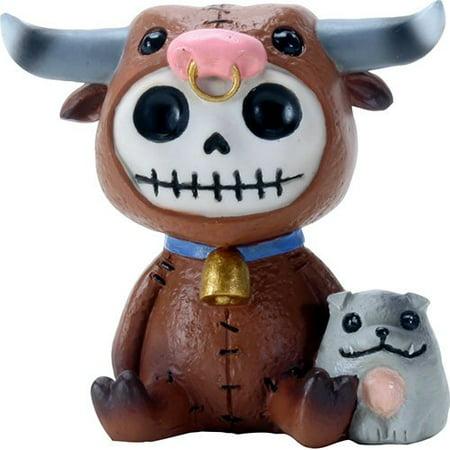 Furry bones Torro White Skeleton in a Brown Baby Bull Costume