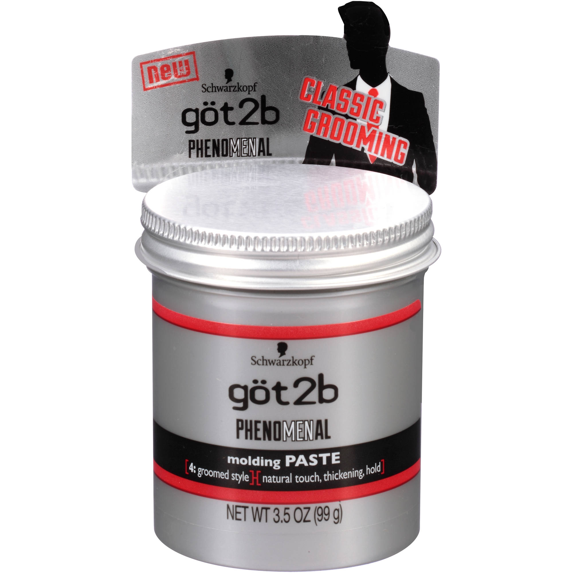 Schwarzkopf got2b Phenomenal Molding Paste, 3.5 oz