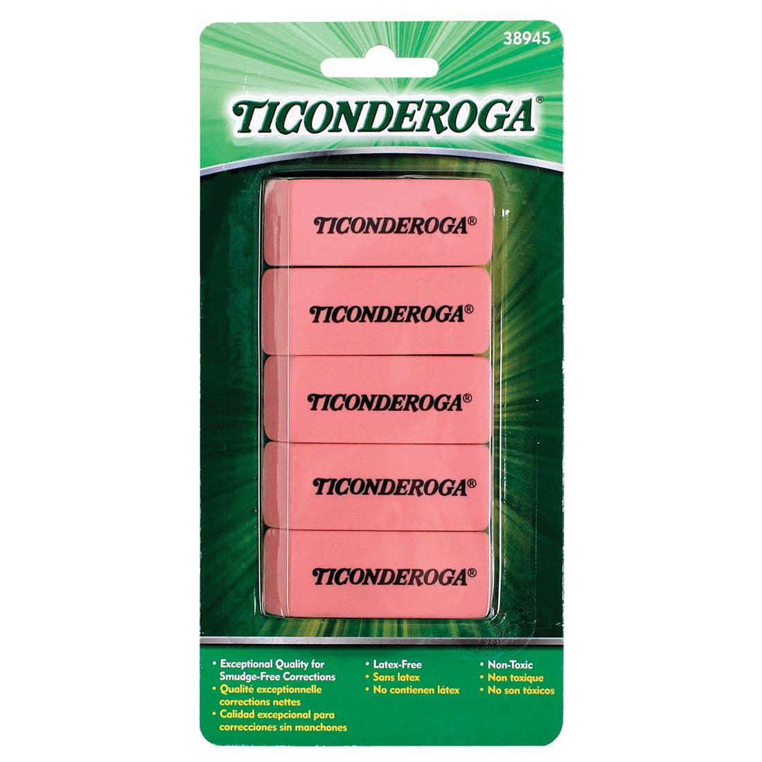 Ticonderoga Pink Erasers by Ticonderoga