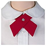 Candy Color Women Girl Sailor School Pre-tied Satin Thin Bowtie Bow Neck Tie Colors:Red