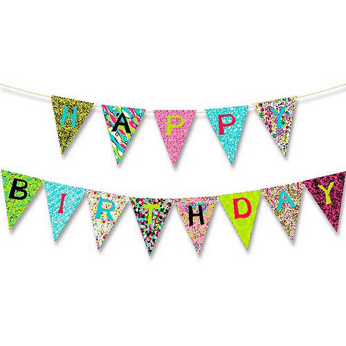 Creative Cuts Birthday Banner Kit, Hot Pink
