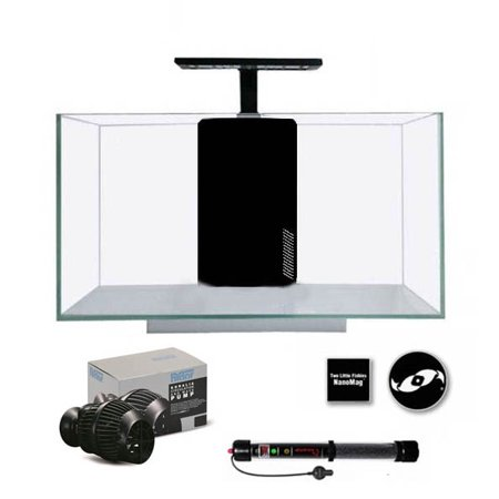 Jbj Aquarium Lighting (JBJ Rimless Desktop 10 Gallon Flat Panel Aquarium w/ LED Light (RL-10-FP) UPGRADE PACKAGE)