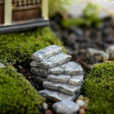 Miniature Stone Bend Bridge Stairs Home Decor Fairy Ornament Garden (Ornament Garden Stone)