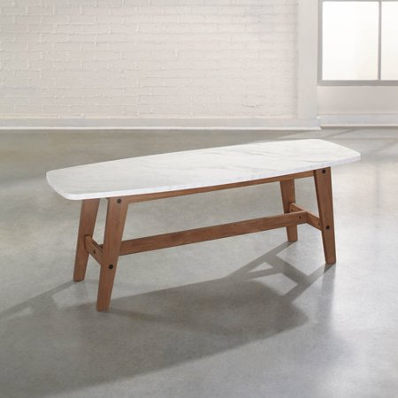 Sauder Faux Marble Soft Modern Coffee Table Fine Walnut