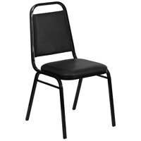 A Line Furniture Alpine Black Upholstered Stack Dining Chairs
