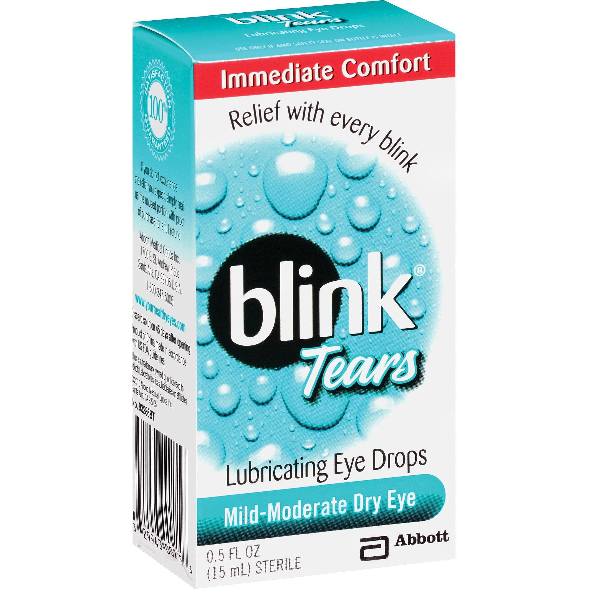 Blink Tears Lubricating Eye Drops, 0.5 fl oz