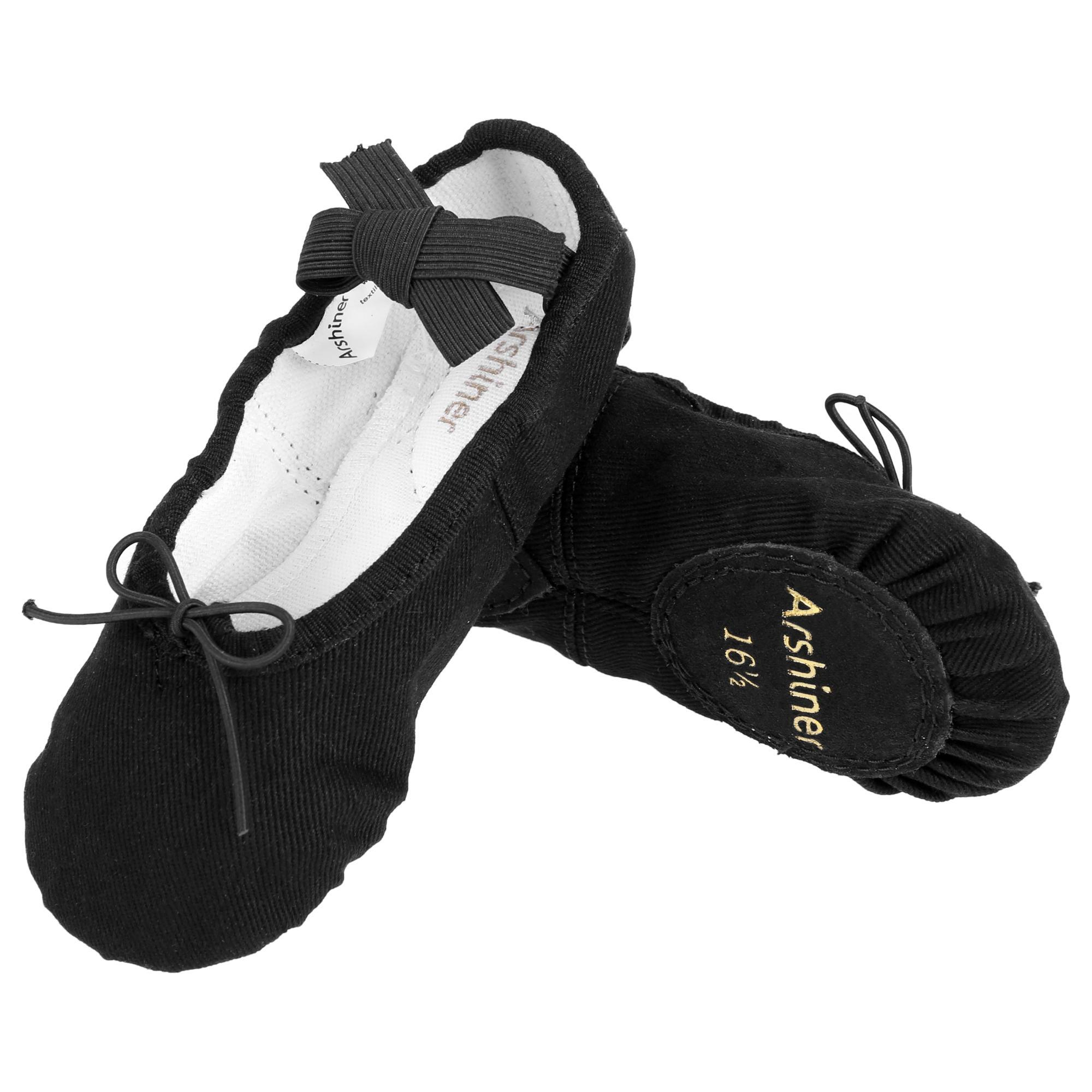 Bestuhot Girls Toddler Ballet Shoes Kids Ballet Slippers, Cotton blend by