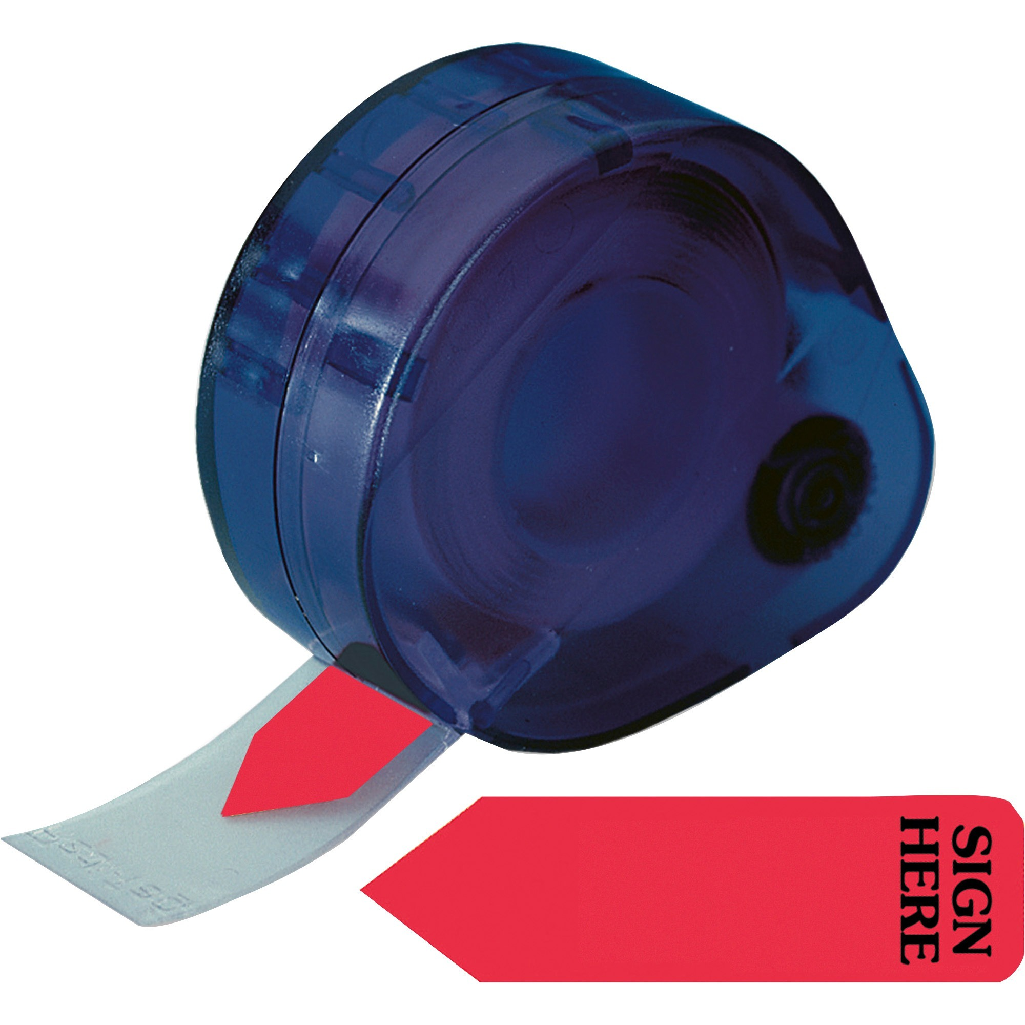 Redi-Tag, RTG81054, Sign Here Reversible Flags In Dispenser, 120 / Pack, Red