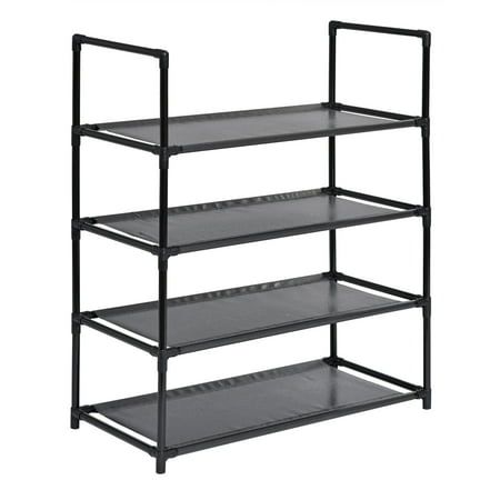 Muscle Rack SR4L-BLK 4 Level Shoe Rack, Black ()
