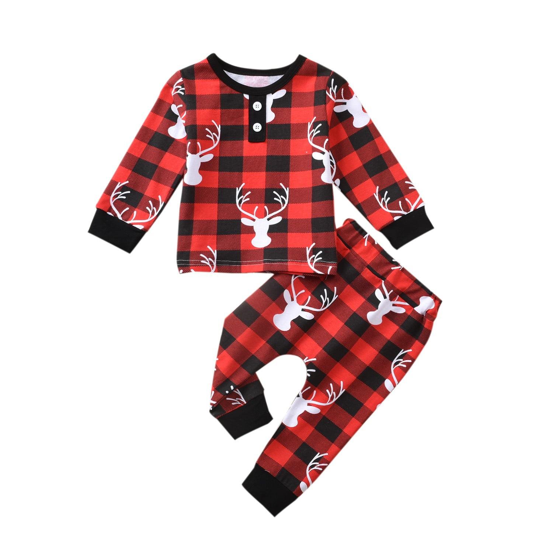 Meihuida - Xmas 2pcs Toddler Baby Boy Girl Sets 2-7Y ...