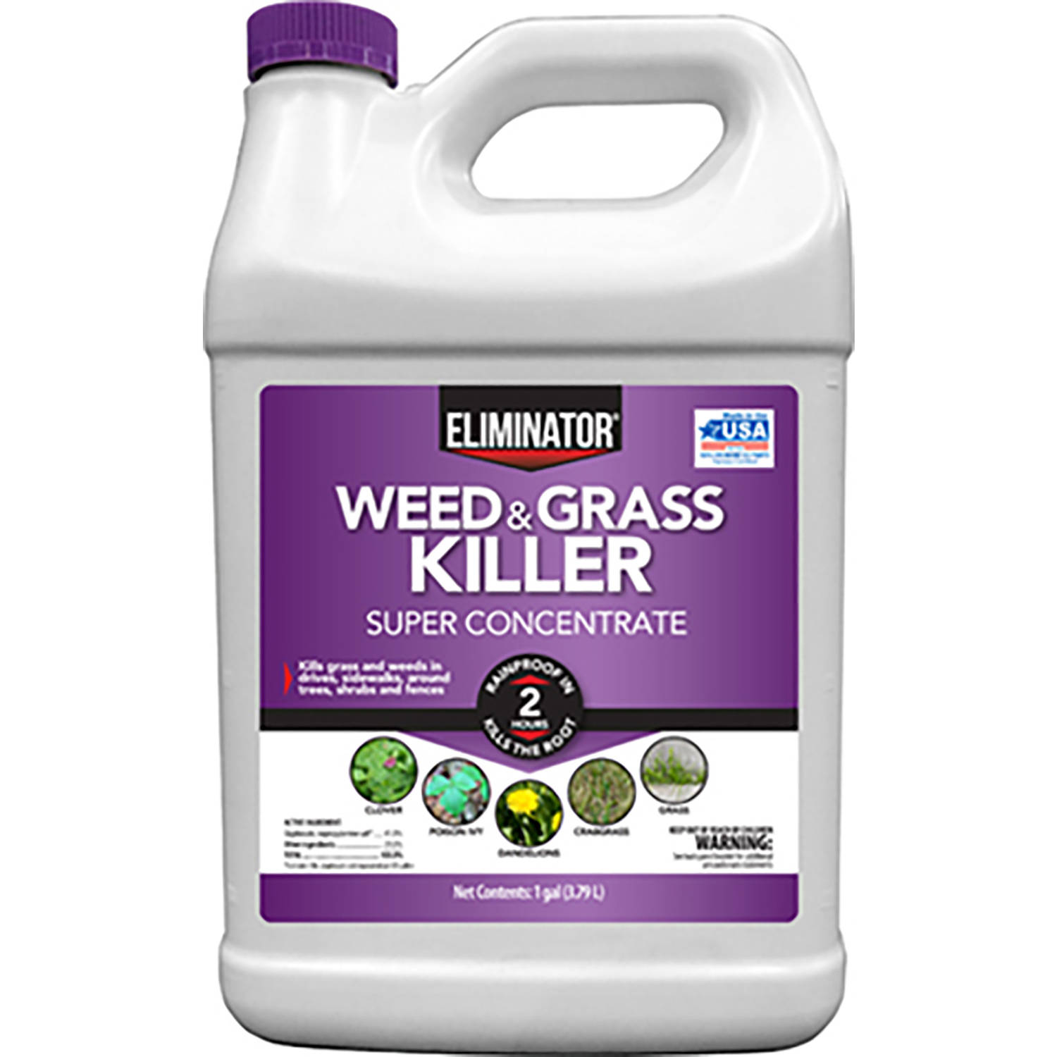 Eliminator Weed and Grass Killer Super Concentrate, 1 Gallon