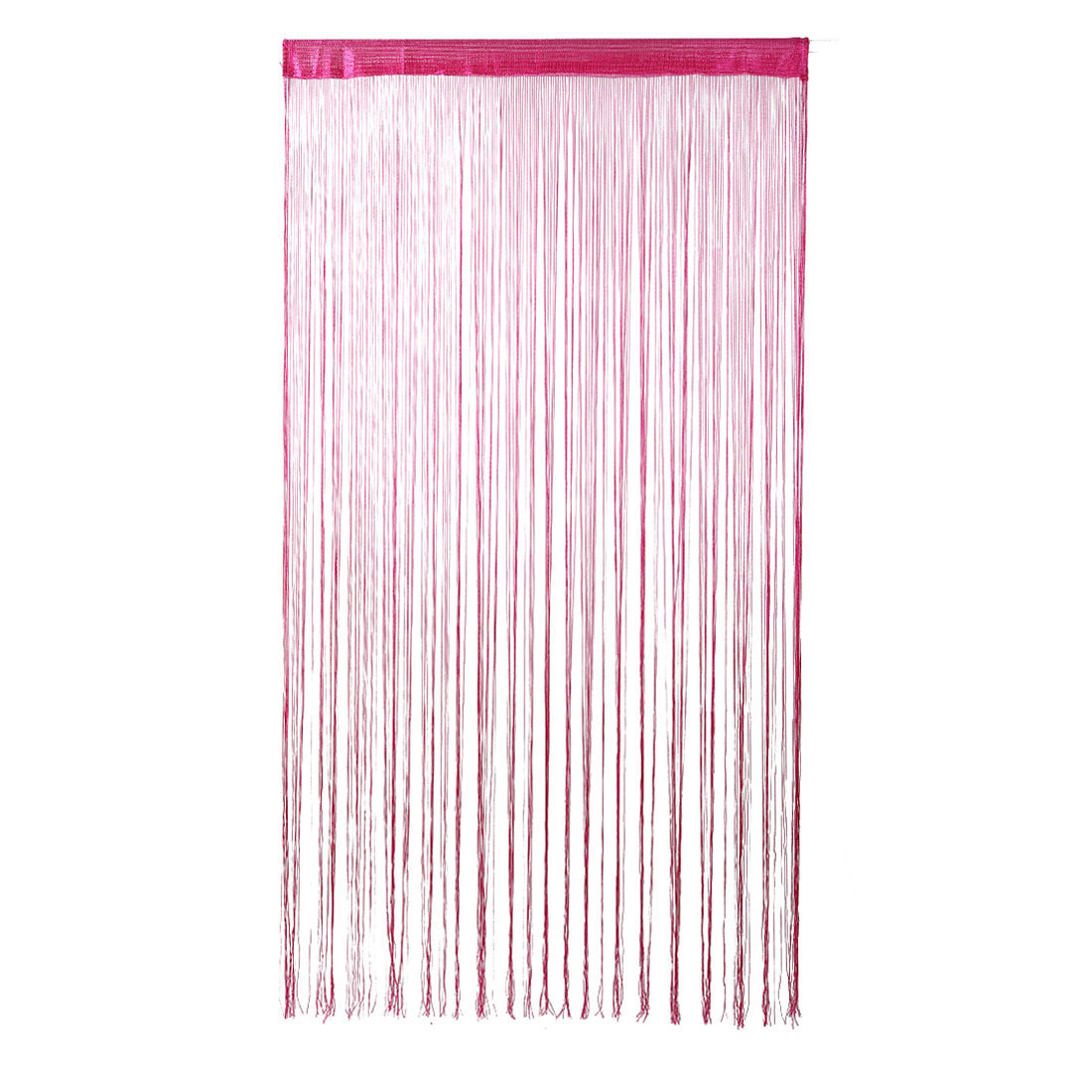Home Solid String Curtains Panel Drapes For Window Door Decor Fuschia