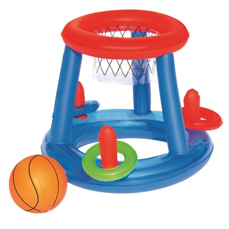 Inflatable Basketball Ring Toss Pool Sport Play Toy Game Center
