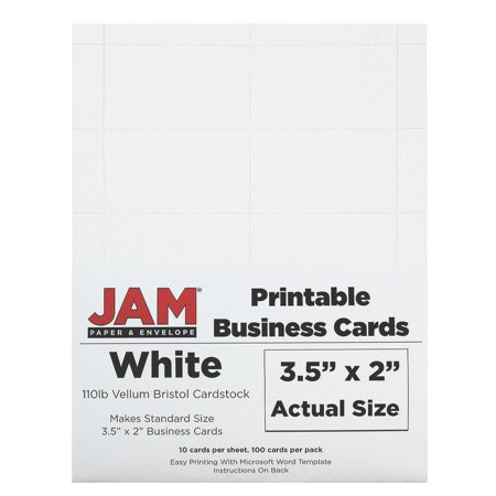 Jam paper printable business cards 3 12 x 2 white vellum 100 jam paper printable business cards 3 12 x 2 white vellum reheart Choice Image
