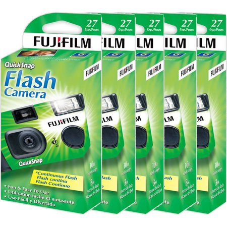 5 Fujifilm Quicksnap Flash 400 Disposable 35mm Single Use Film