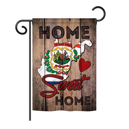 Ornament Collection - State West Virginia Home Sweet Home Americana - Everyday States Impressions Decorative Vertical Garden Flag 13