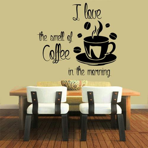 Smell of Coffee in the Morning' Sticker Vinyl Wall Art