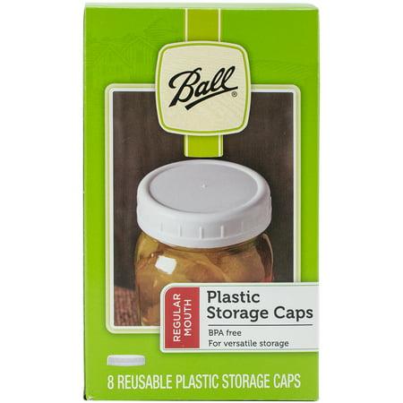 Ball Plastic Storage Caps 8/Pkg Wide -