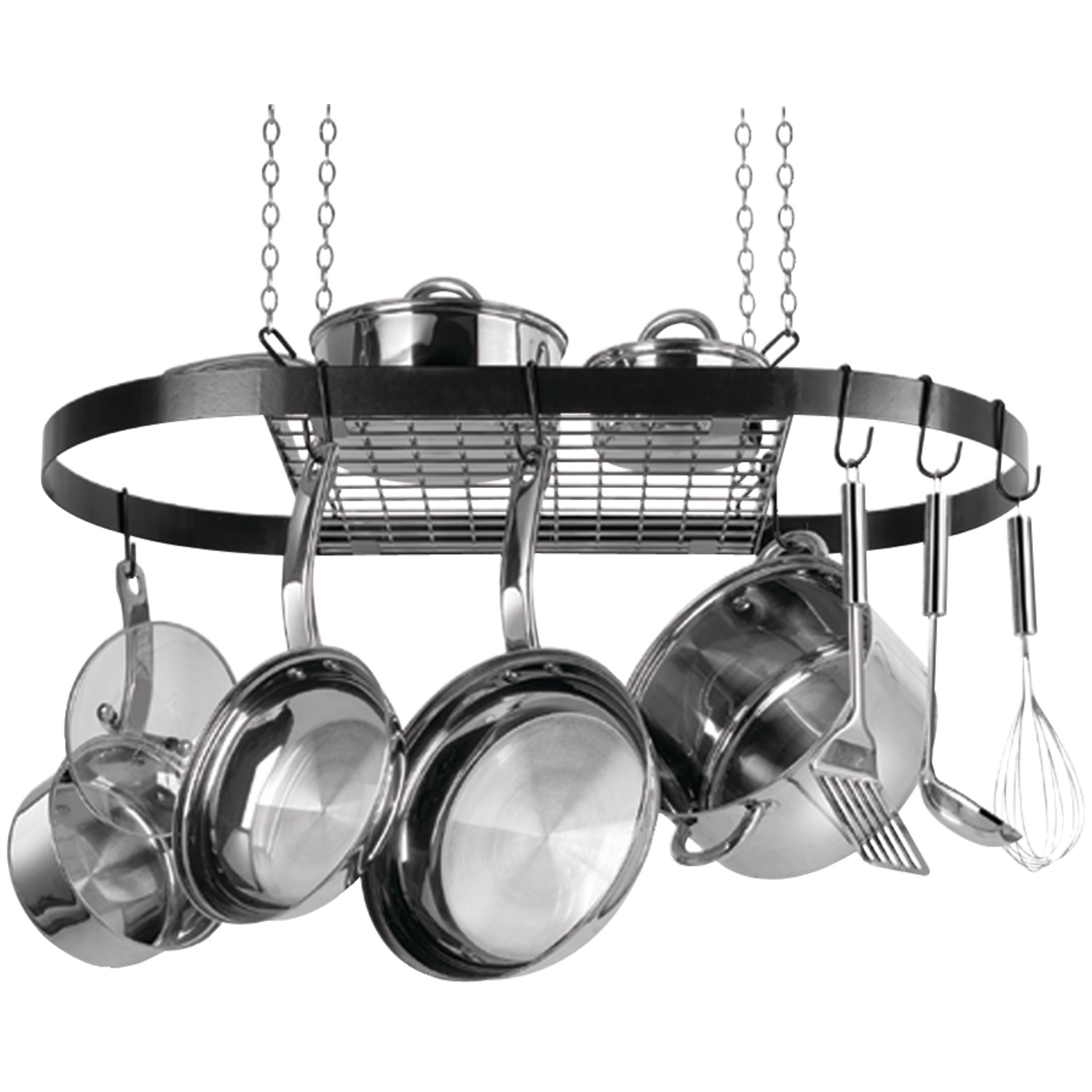 Range Kleen CW6000R Oval Hanging Pot Rack (black Enamel)