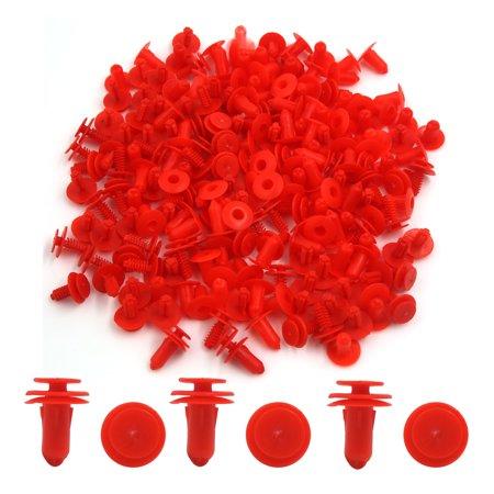 100 Pcs Red Plastic Push in Rivet Interior Trim Panel Car Door Clips 7.5mm Hole - image 1 de 2