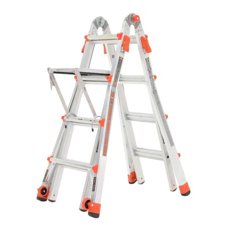 Little Giant Velocity 17 Foot Aluminum Adjustable Folding Ladder & Work (Little Giant Alta One Ladder With Work Platform)