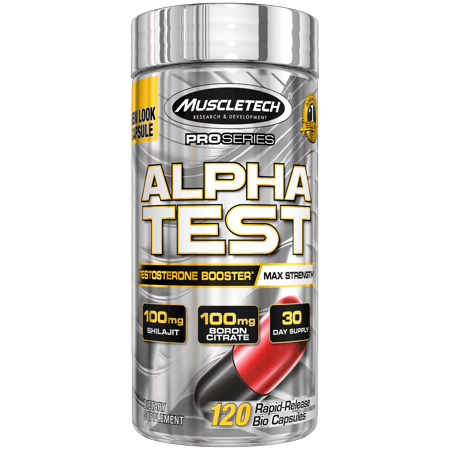 MuscleTech AlphaTest ATP & Testosterone Booster for Men, Boost Free Testosterone and Enhance ATP Levels, 120 Count