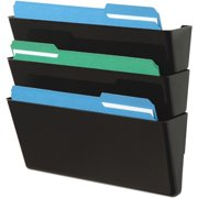 Deflecto, Stackable DocuPocket Set, 1 Each, Black