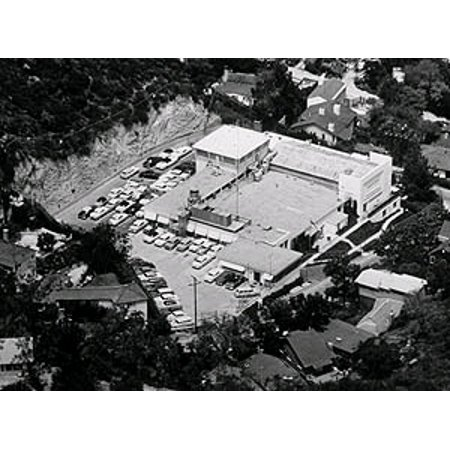 Canvas Print Lookout Mountain Air Force Station from above. Black and white, low resolution. Stretched Canvas 10 x