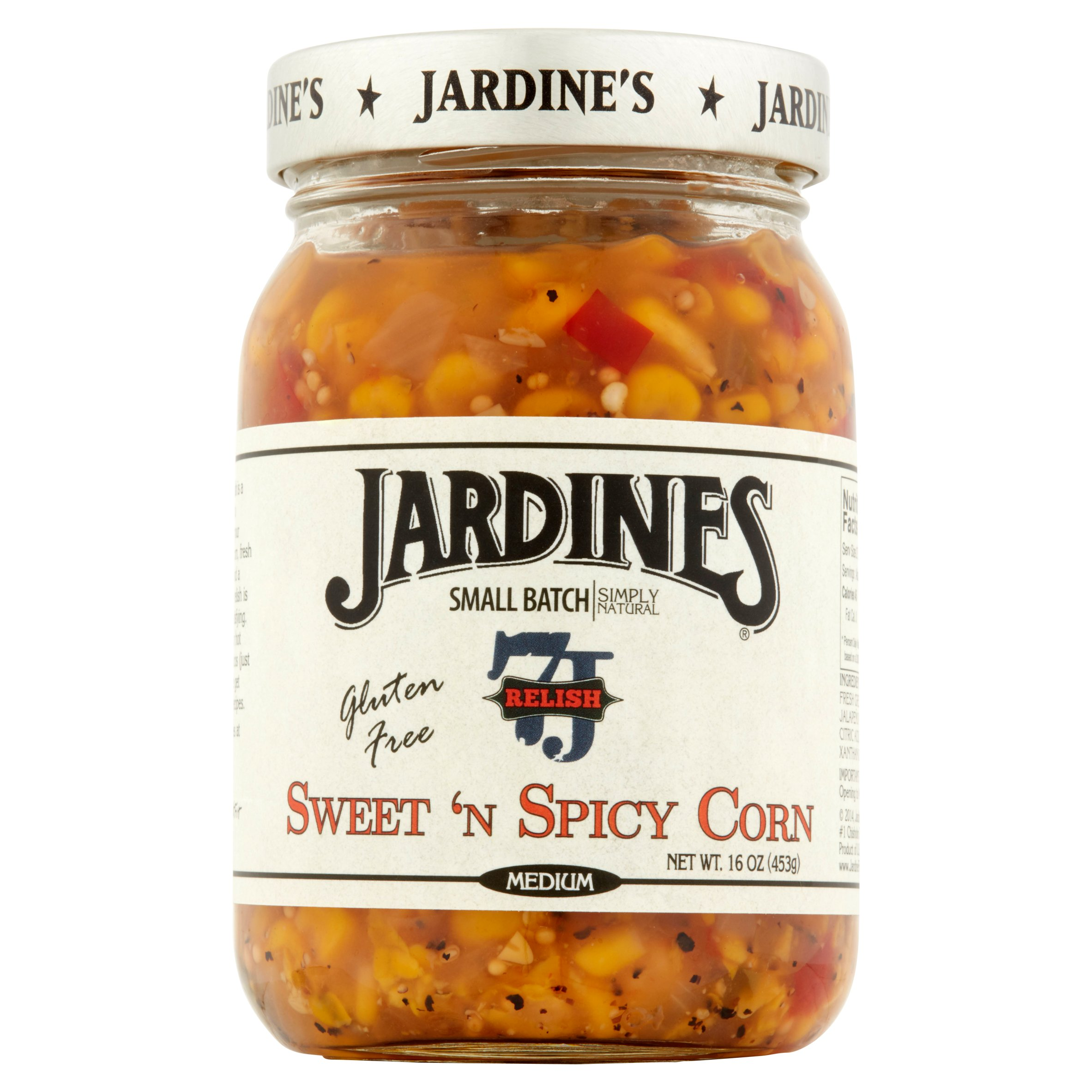 (2 Pack) Jardine's Medium Sweet 'n Spicy Corn Relish 16 oz