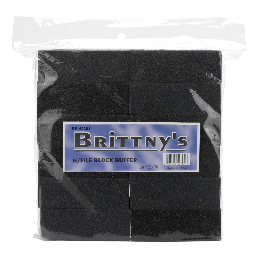 Brittny Professional Salon Nail File Block Buffer Combo 24 Pack, 42301