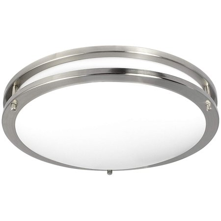 Luxrite LED Flush Mount Ceiling Light, 16 Inch, Dimmable, 3000K Soft White, 1960lm, 26W Ceiling Light Fixture, Energy Star & ETL - Perfect for Kitchen, Bathroom, Entryway, and Living