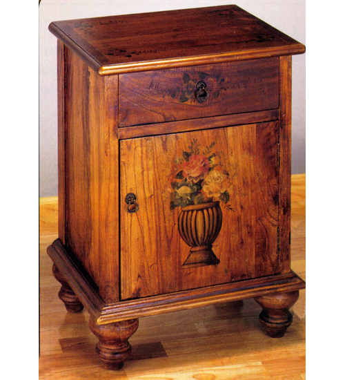 Meyda Tiffany Potted Flowers Colonial Cabinet by Meyda Tiffany