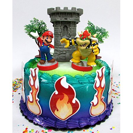 Super Mario Brothers Mario Versus Bowser Castle Themed