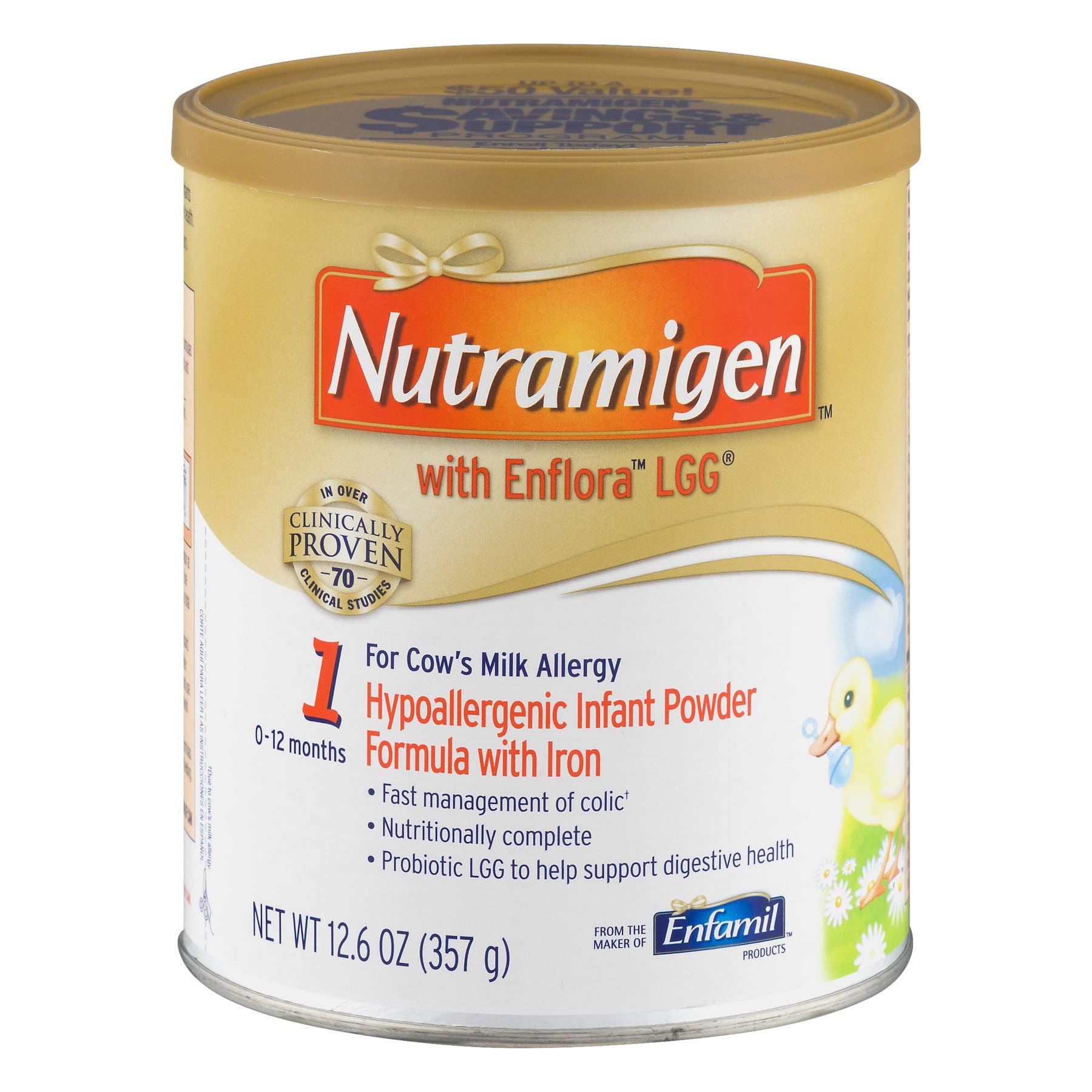 Nutramigen with Enflora LGG Hypoallergenic Infant Formula Powder 12.6 oz. Canister