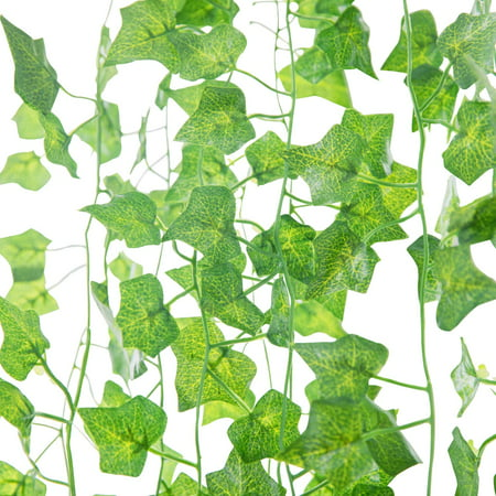 24 Strands 84 Ft Fake Ivy Leaves Artificial Ivy Garland Greenery Decor Faux Green Hanging Plant Vine for Wall Party Wedding Room Home Kitchen Indoor & Outdoor Decoration