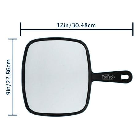 ForPro Large Hand Mirror Black