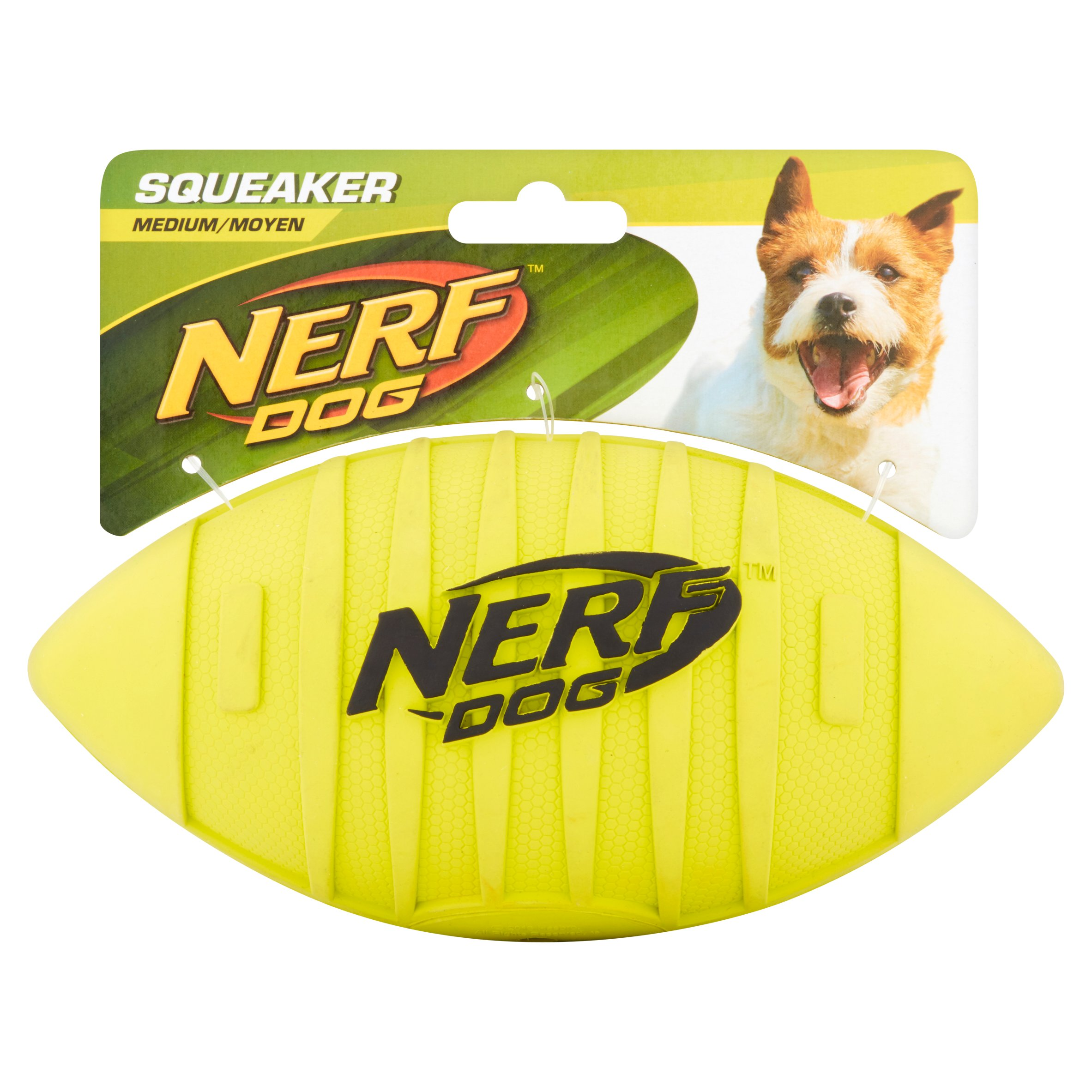 Nerf Dog Medium Durable Rubber Interactive Squeaker Toy