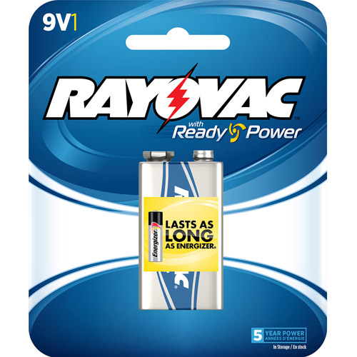 Rayovac Alkaline 9V Battery, 1-pack