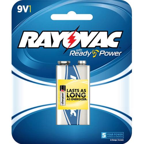Rayovac Alkaline 9V Battery, 1-pack