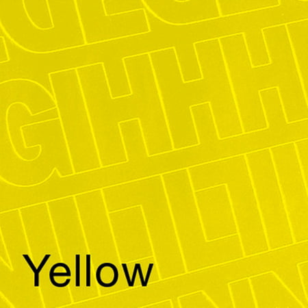Yellow Letter (Permanent Adhesive Vinyl Letters and Numbers, 3