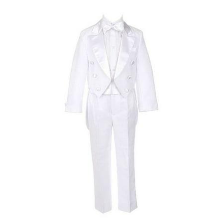 Sweet Kids Boys White Tails Coat Shirt Bow Tie Pants Tuxedo Suit 8-20 ()