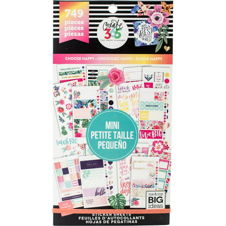 Happy Planner Sticker Value Pack-Choose Happy - Mini, 749/Pkg (Happy Mothers Day Stickers)