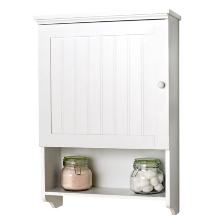 Wall Mount White Bathroom Medicine Cabinet Storage Organizer E Saver
