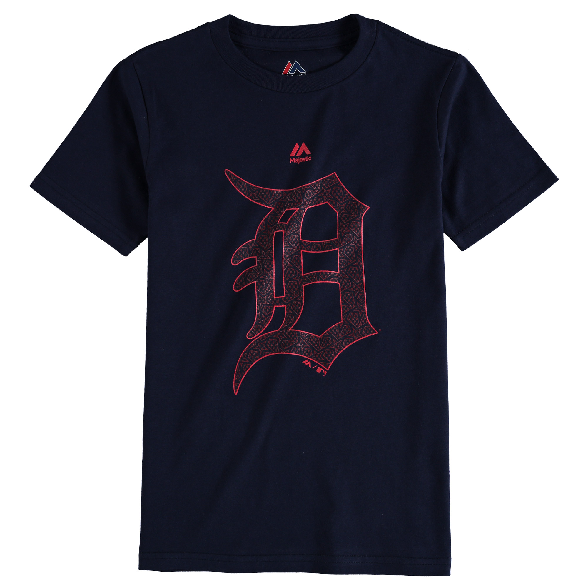Detroit Tigers Youth Stars & Stripes Logo T-Shirt - Navy